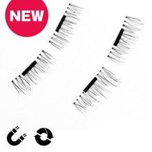 Magnet eyelashes 100% Handmade Magnet eyelashes Cross Thick False Eye Lashes Extension Makeup Super Natural Long Fake Eyelashes