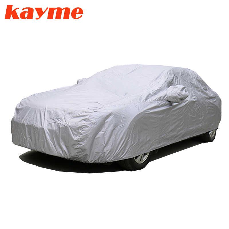 Kayme universal completo coche cubre a prueba de polvo al aire libre UV protección de la nieve 170 T poliéster cubierta para Suv toyota bmw vw
