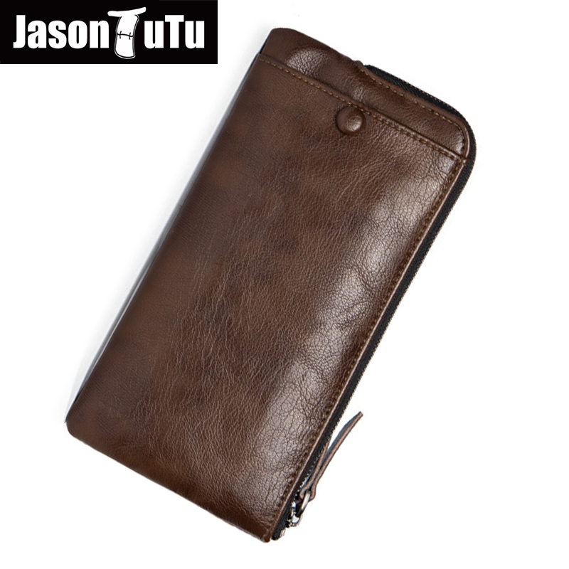 JASON TUTU Brand Men's wallet Standard zipper Wallets Good quality PU leather Dollar purse Card holder carteira masculina B250