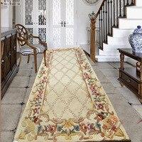 Ковер в коридор большой размер ковер Шерсть на заказ ковры моющиеся ковер для гостиной спальни цветочные коврики роскошные высокого качест