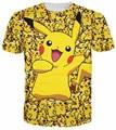 Alisister nova moda Dos Desenhos Animados Pokemon Pikachu camiseta impresso mulheres/homens engraçado impressão 3d t-shirt Camisetas camiseta harajuku topos