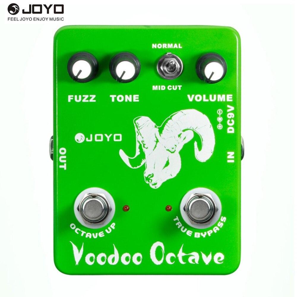 JOYO JF-12 Voodoo Octave Fuzz Effet Guitare Pédale Basse Électrique Effets de Compression Dynamique True Bypass Musical Guitare Accessoire