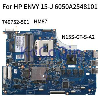 KoCoQin Laptop motherboardFor HP ENVY 15-J 15T-J HM87 N15S-GT-S-A2 Mainboard 749752-001 749752-501 6050A2548101