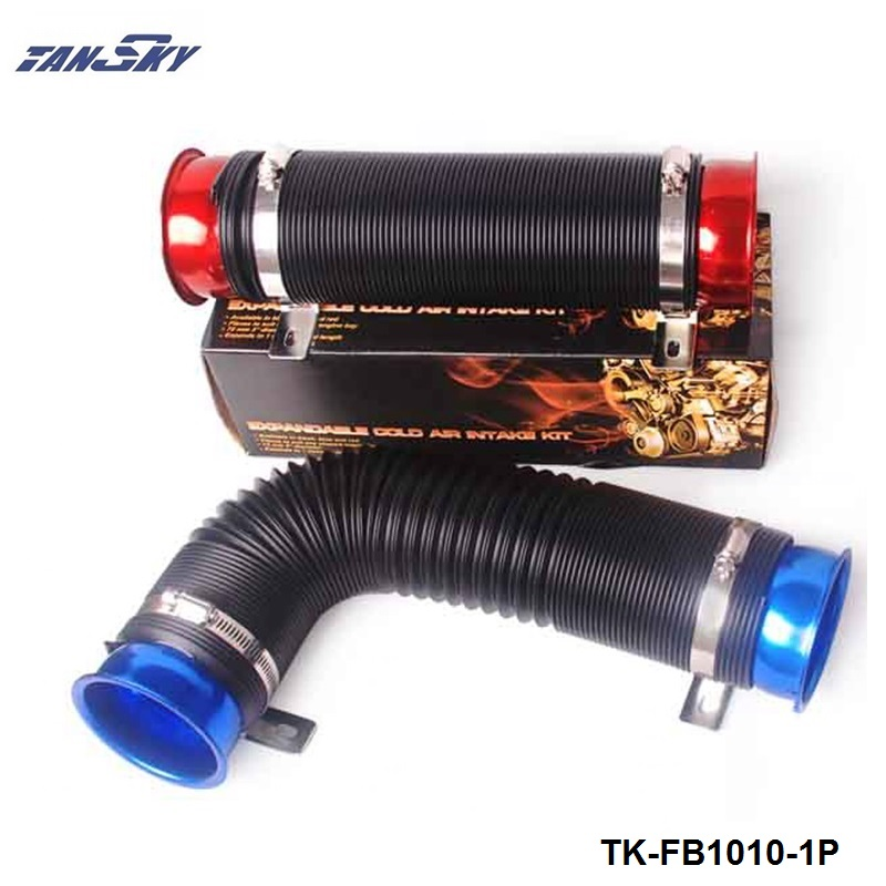 76mm Universal Turbo Multi Flexible Air Intake Pipe Tube Air Intake Inlet Hose For Ford Falcon BA BF XR6 TK-FB1010-1P cnspeed air intake pipe kit for ford mustang 1989 1993 5 0l v8 cold air intake induction kits with 3 5 air filter yc100689