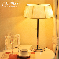 Современная настольная лампа для Спальня Гостиная настольная лампа офис Чтение свет Тенты кнопочный переключатель испанский защитник Осв