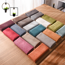 Slub Sofa Plain Linen Coarse Thickening Upholstery Fabric Fluid Diy Pillow Cushion Cover Table Cloth