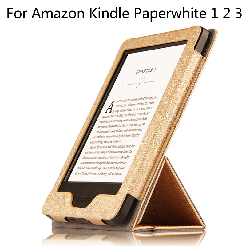 Fashion Flip Case Cover For Amazon kindle paperwhite 1 2 3 2016 6th generation E-BOOK cases + Stylus upaitou flip case for amazon kindle paperwhite 1 2 3 cover for kindle 958 6th generation tablet case leather smart coque