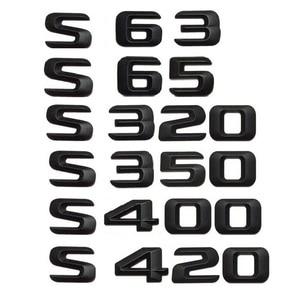 Image 3 - 3D Matt Black W221 W222 Car Emblem S350 S320 S430 S500 S63 S65 Badge Sticker Auto 4MATIC BITURBO Star Logo For Mercedes Benz AMG