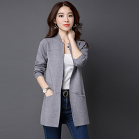 Plus Size 3XL Fashion Autumn Winter Knitwear Cardigan Women Sweater Female Long Sleeve Knitted Ladies Tricot Clothes Coat Q10