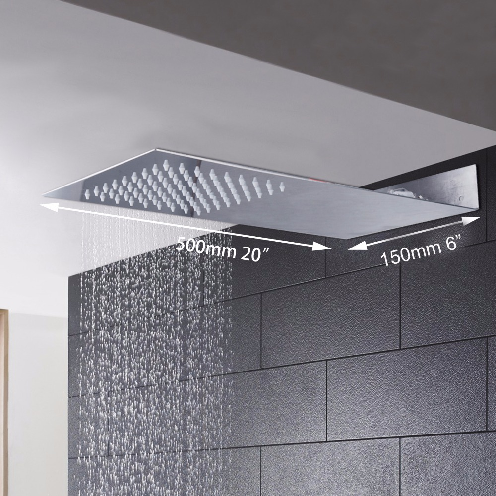 Square Stainless Steel Ultra-thin Showerheads Rainfall Shower Head Rain Shower Chrome Finish european style square grain wall lamps simple creative living room bedroom led bedside lamp jane european retro wall lamp z10