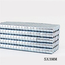 10/30/50/70pcs 5x3mm Neodymium Magnet Super Strong Rare Earth Magnet Round Powerful Small Magnetic Magnets Earth NdFeB Magnet rare earth high purity scandium chloride sccl3 xh2o