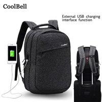 2018 New USB Charging 14 15.6 Handbag For Macbook Pro 15 15.4 Laptop Case Women Men Waterproof portable Cover Notebook Backpack