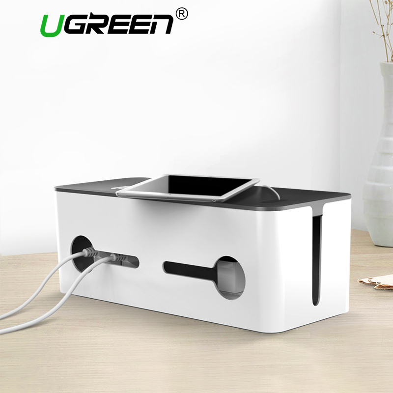 Ugreen Home Electronic Accessories Cable Organizer Box for Power Strip Storage USB Charger Cable Management High-capacity Box orico storage box phone holder power strip box for adapter wire charger line usb network hub cable management box