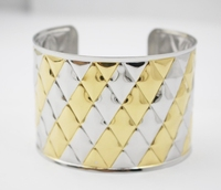 New Arrival 2015 Gold And Silver Cuff Bangles Bracelet Jewelry For Women Gift Punky Wide Cuff