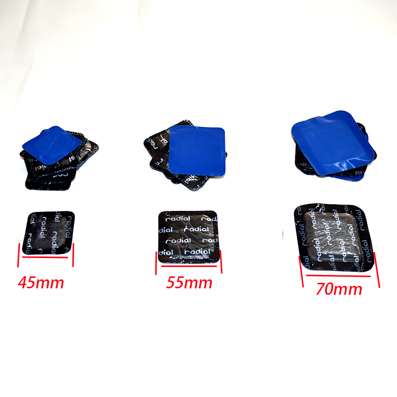 20 pieces/package High quality TECH tire repair film cold patch on the tubeless tire repair patch square patch]auto