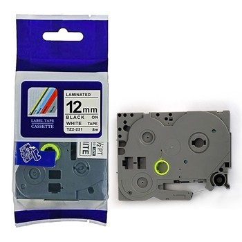 15pcs tze231 free shipping brother P touch Laminated Label Tape Cartridge tz231 tz-231