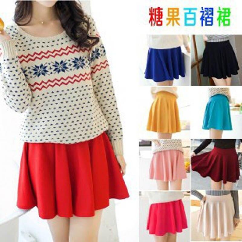 Nouveau Style Coréen Femmes A-ligne Jupe Plissée Mini Style De La - Vêtements pour femmes - Photo 6