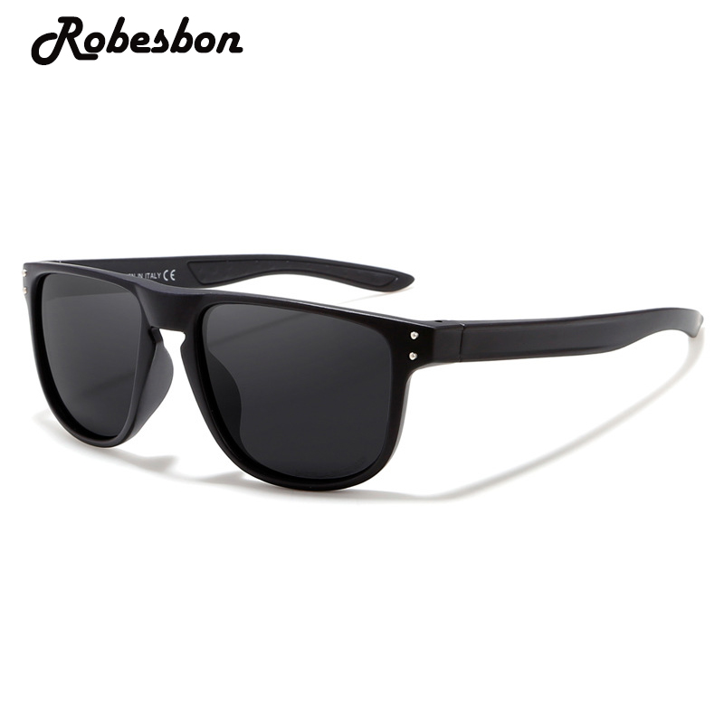 Classic Black Polarized Sunglasses Men Vision Driving Glasses for Women or Female Retro  ...