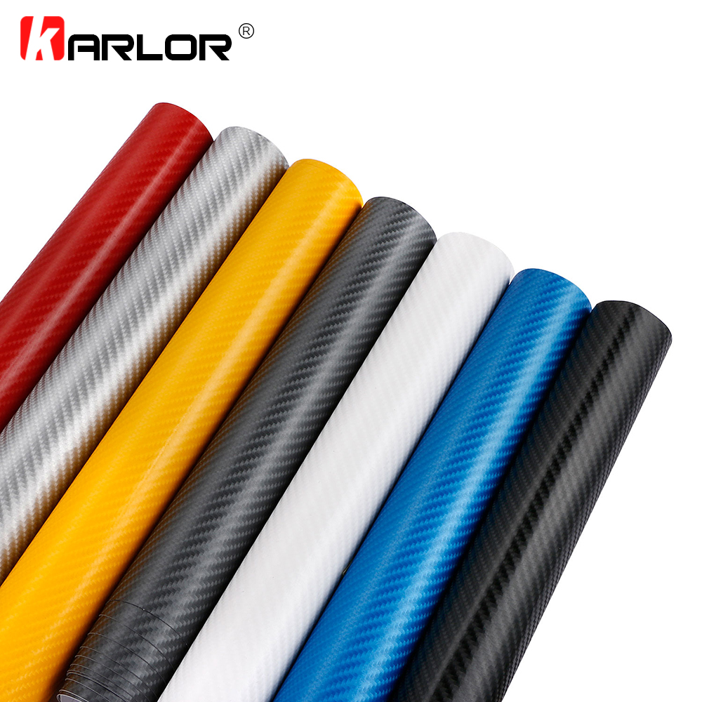60x500cm 4D Carbon Fiber Vinyl Film Waterproof DIY Car Exterior Internal Decal Automobiles Stickers Wrapping Film Car Styling