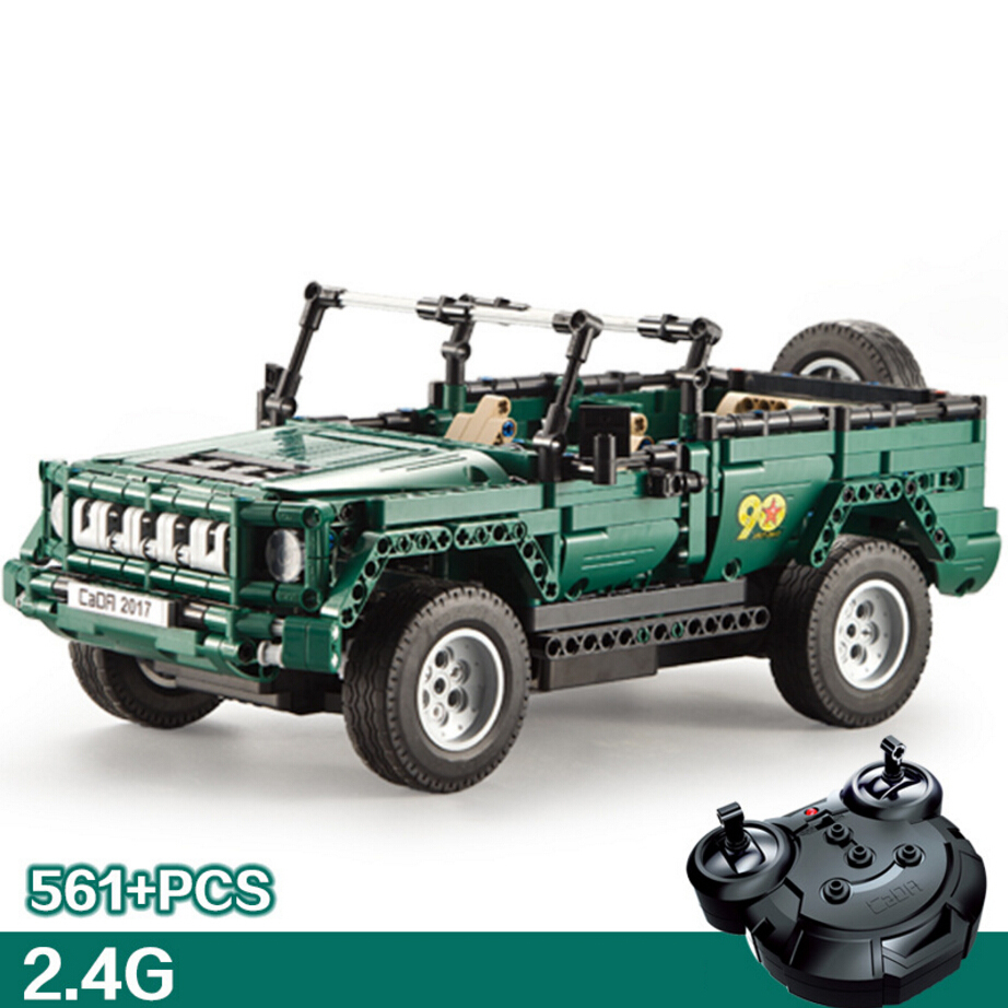 Modern military vehicle 2.4GHz radio remote control Parade jeep building block assemblage model bricks rc toys collection gifts
