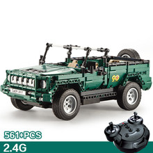 Moderno veículo militar 2.4ghz rádio controle remoto desfile jeep edifício bloco assemblage modelo tijolos rc brinquedos coleção presentes