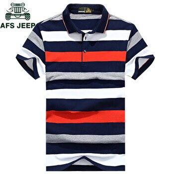 Nouveau 2018 marque Polo rayé hommes coton haute qualité hauts t-shirts polo hombre grande taille 3XL hommes d'affaires marques Polos chemises