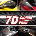 Alta qualidade 7d alta brilhante fibra de carbono filme de vinil estilo do carro envoltório da motocicleta acessórios interior fibra carbono filme