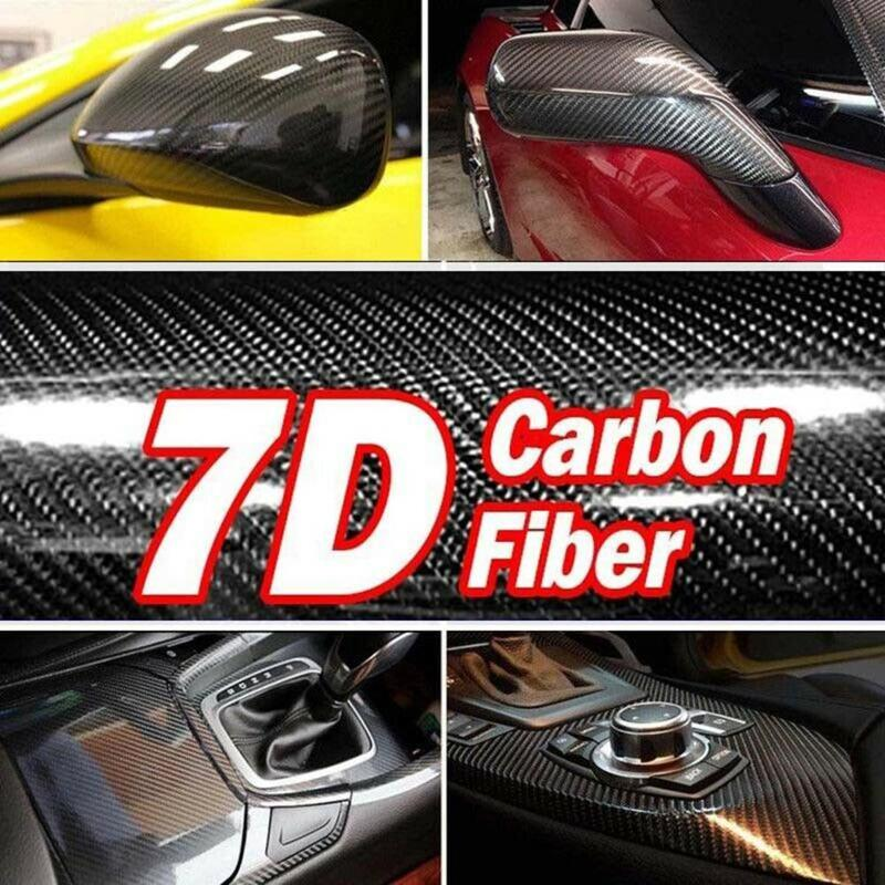 High Quality 7D High Glossy Carbon Fiber Vinyl Film Car Styling Wrap Motorcycle Styling Accessories Interior Carbon Fiber Film(China)