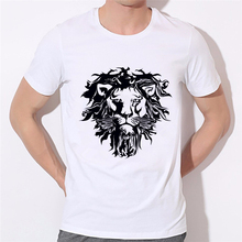 Lion silhouette latest fashion printed men's T-shirt 2016 men t shirt Cool hip pop funny t-shirt summer boy tee shirt 45N-9#