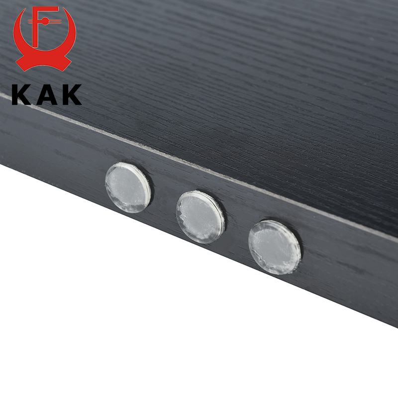 KAK 30 80 Grain Silicon Door Stops Pad Transparent Rubber Kitchen Cabinet Catches Self Adhesive Damper Buffer Furniture Hardware in Cabinet Catches from Home Improvement