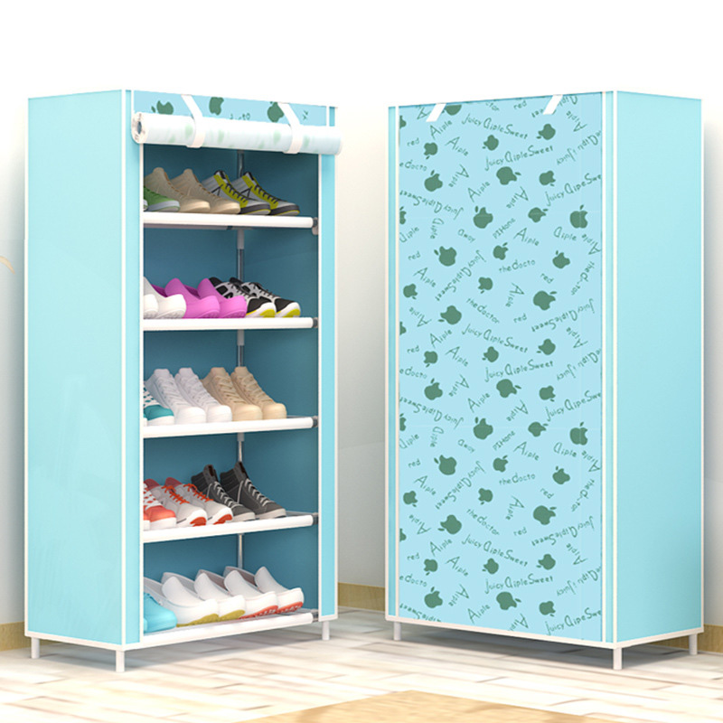 Shoe Cabinet 6 Layer 5 Grid Non Woven Fabrics Large Shoe Rack Organizer  Removable Shoe Storage For Home Furniture
