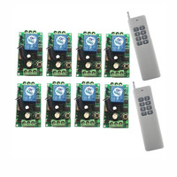 3000m Wide Range DC 9V 12V 24V 1 CH 1CH RF Wireless Remote Control Switch System,8CH Transmitter + Receiver,315 / 433 MHz