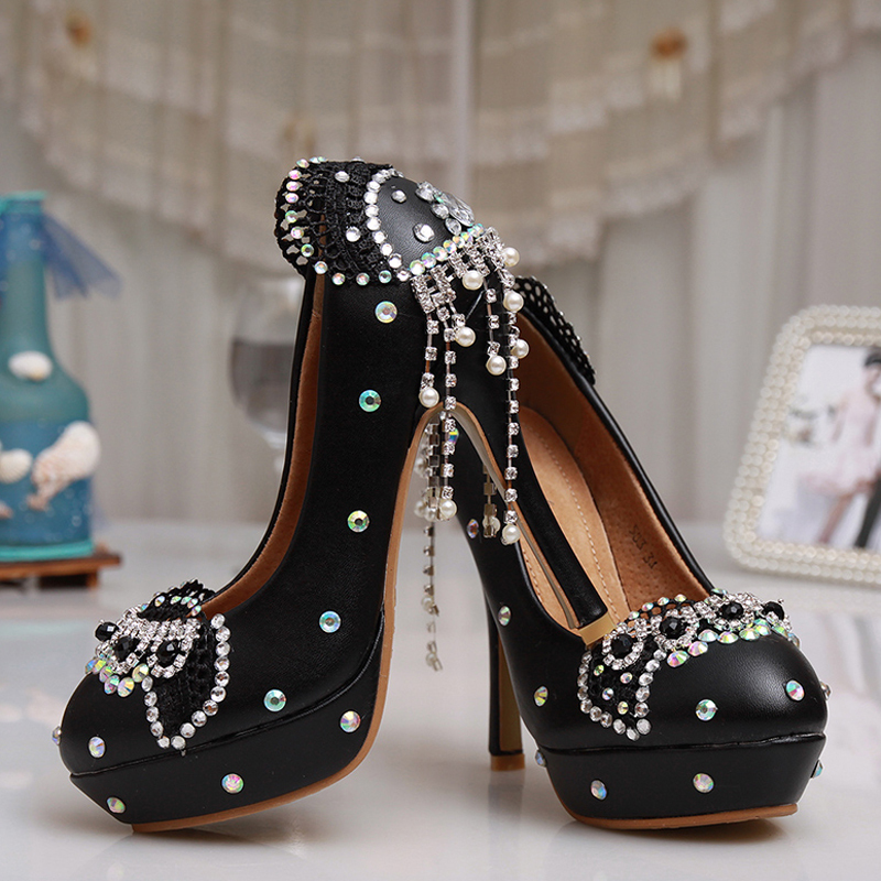 Gorgeous Diamond Lady Shoes Wedding Party Sparkling Wedding High Heel  Platform Crystals Shoes Aesthetic Rhinestone Bridal Shoes-in Women s Pumps  from Shoes ... 81c634c062fc