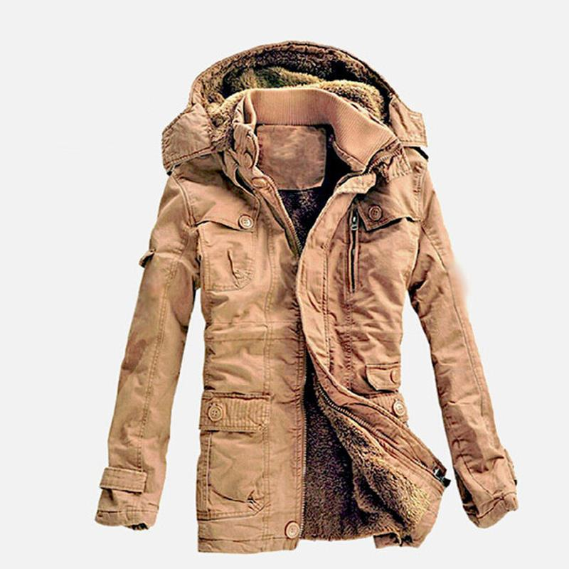 2017 New Fashion Men's Fleece Faux Fur Winter Coat Hoodies Parka Overcoat Jacket lowest price plus size