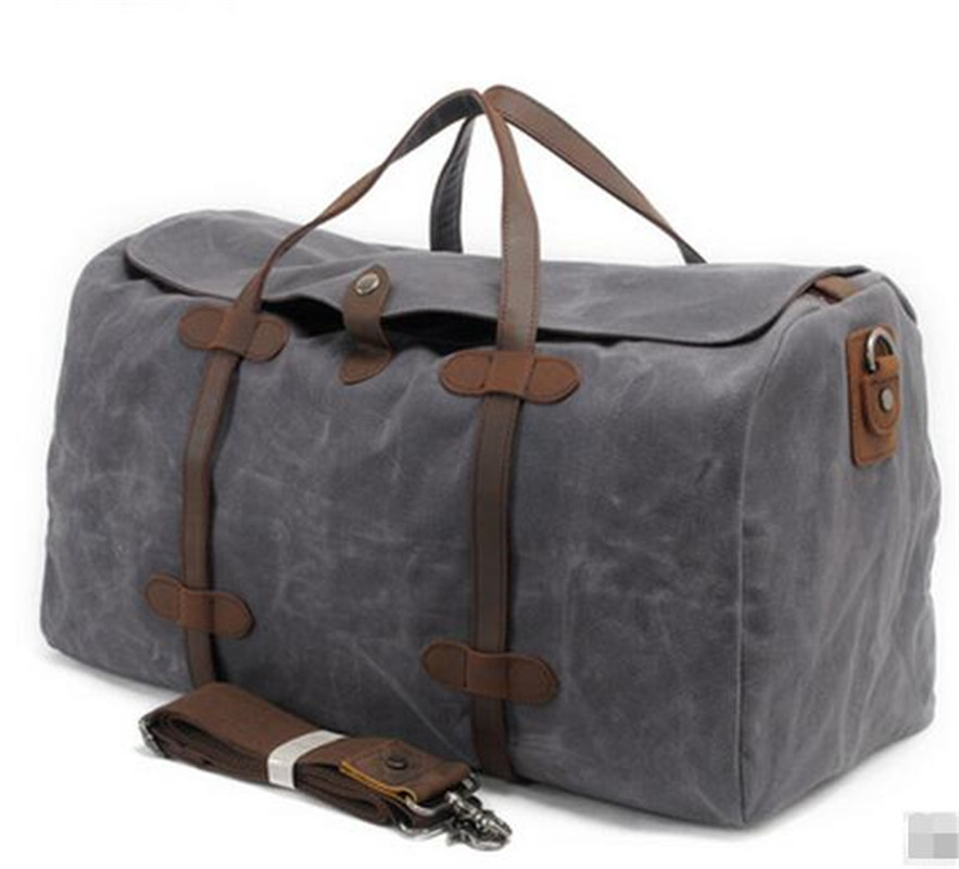 36-55L New Grey Canvas Men & Women's Travel Bag Batik Canvas Extra Large Capacity Waterproof Luggage Bag European style NMB7 dugadi dzrzvd 36 55l