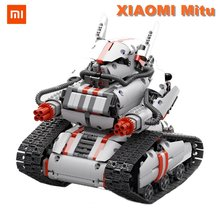 Genuine XIAOMI Mitu DIY bluetooth 4.0 Programable Blocks Smart Intelligent Track Robot Kit Support Smartphone Phone Control Toys(China)