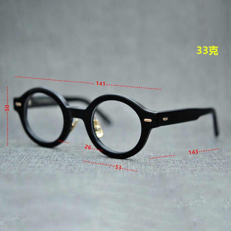 6fe3917fd ... Vazrobe Acetate Glasses Men Women Small Round Eyeglasses Frames Man  Female Vintage Tortoise Eyeglass Prescription Myopia ...