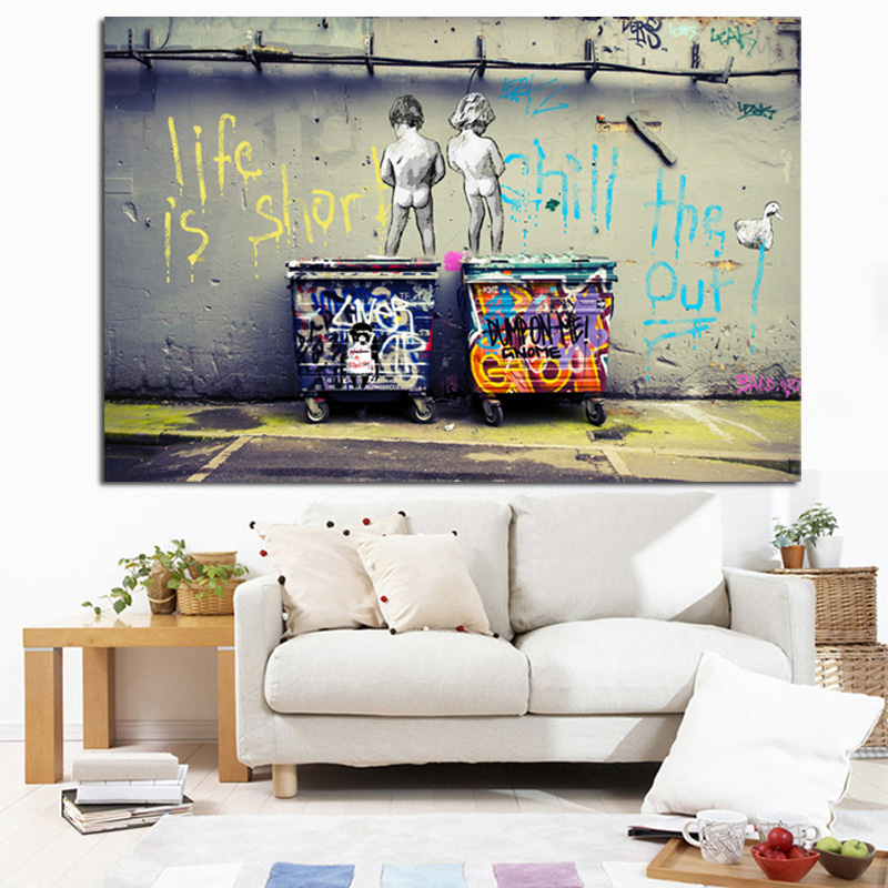 Pop Street Art Graffiti Life Is Short Chill The Duck Out
