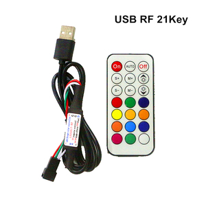 Image 5 - DC5V USB Pixel LED Strip Remote Controller Mini 3key RF 14key 17key 21key Controller For WS2812B SK6812 Pixel Full Color Strip