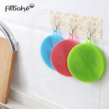 FILBAKE Silicone Dish Washing Sponge Scrubber Kitchen Cleaning Accessories Antibacterial Tool Dishwashing Deoil Brush Tools