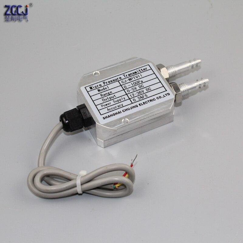 Transmetteur de différence de pression d'air de vent 0-5 V DC tube de pression micro pression capteur différentiel de pression chaudière mine de charbon pression éolienne