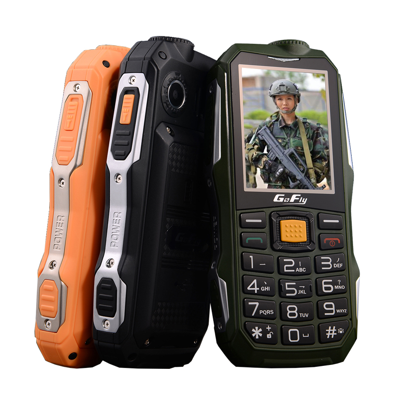 GOFLY F7000 Russian Arabic Shockproof SOS flashlight 6800mAh Battery Long Standby Power Bank torch FM cell mobile phone P069