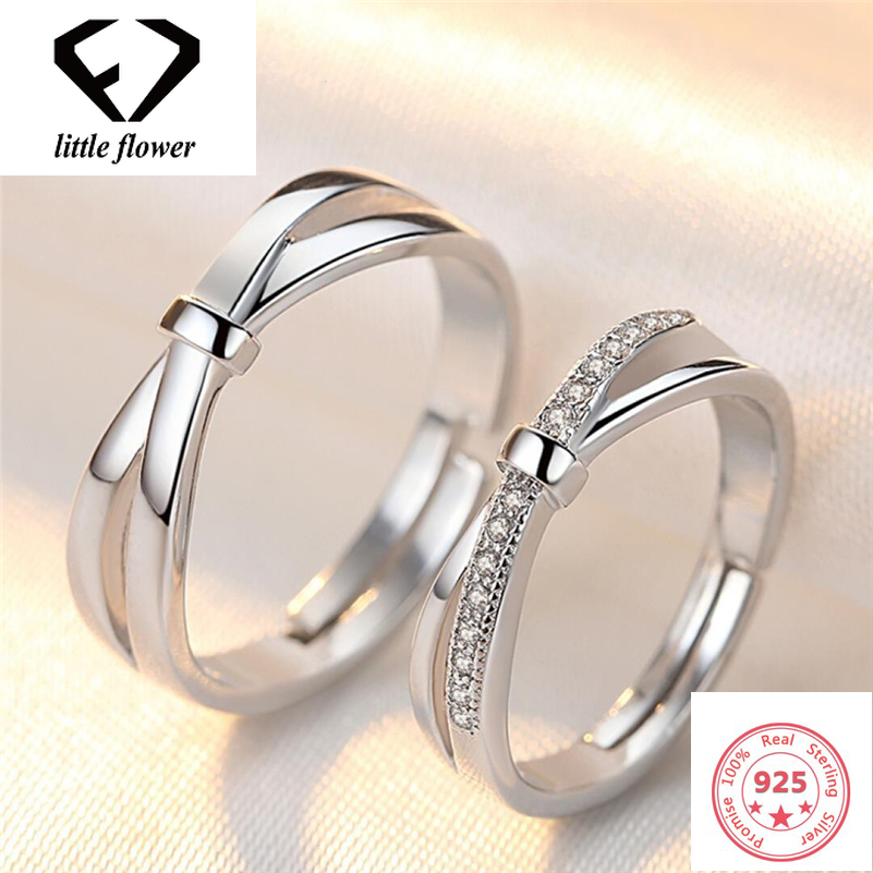 Vintage Couple Ring Female 925 Silver Color Bow Open To Male Bague Etoile Bizuteria Gemstone Peridot Jewelry 925 Ring Hot Sell
