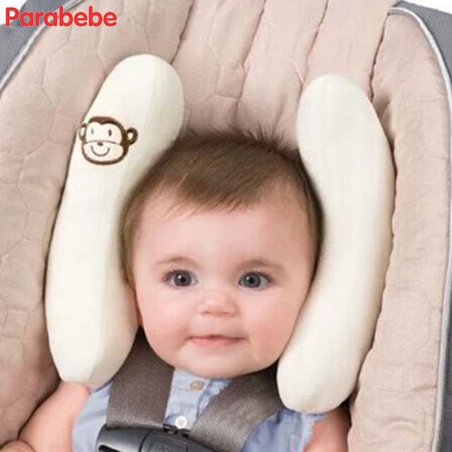 White Adjustable Baby Car Seat Head Support Children Chair Protector For Booster Newborns