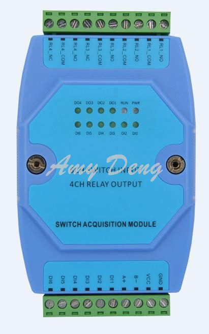 Universal 4 way relay output 6 way switch input module linkage control output RS485 communicaon