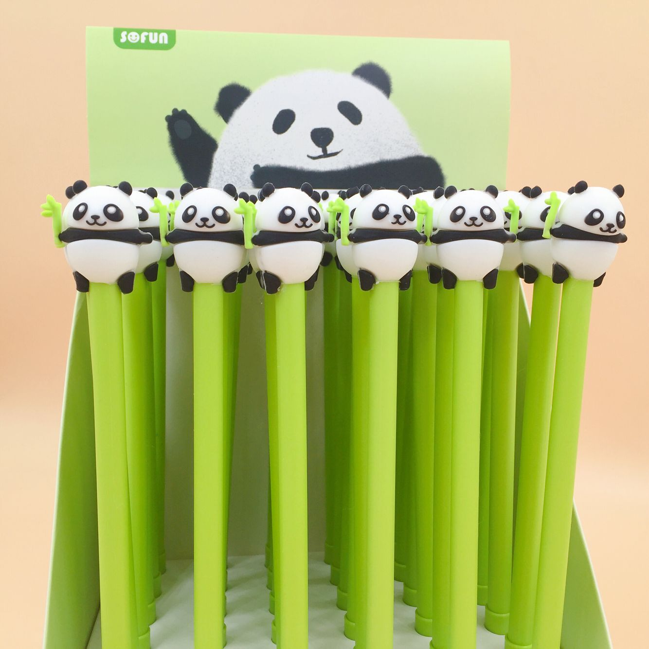 2 Pcs/lot Lovely Panda Gel Pen Signature Pen Escolar Papelaria School Office Supply Promotional Gift