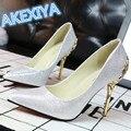 Мода Женская Обувь На Высоких Каблуках Отметил Женщины Насосы Весна Осень Свадебные Туфли Женщина Сексуальные Высокие Каблуки Zapatos Mujer 9 Цвета