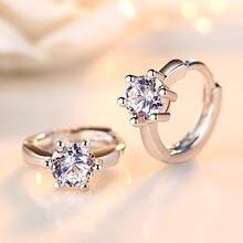 Женские серьги кольца из серебра 925 пробы fanqieliu милые маленькие
