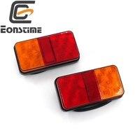 2pcs 12V 2W 10 LED Truck Car Trailer Rear Tail Light Stop Indicator Lamp Taillight Turn