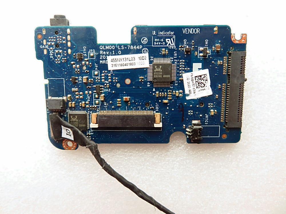original for dell xps14 L421x audio board HDD board LS-7844P DC02C002N00 QLM00 IO BOARD CABLE for dell latitude e6420 vga pal50 ls 6591p pn cyxng 0cyxng usb audio lan board free shipping